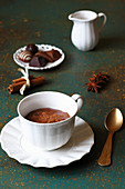 Cup of spicy hot chocolate