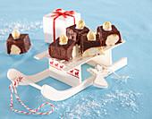 Chocolate Nut Slices (Christmas)