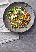 Chicory salad with rocket and lentils