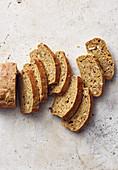 Vegan banana bread with oats