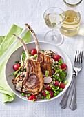 Lamb cutlets with quinoa