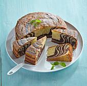 Striped fancy bread