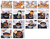Red lentils soup - step by step