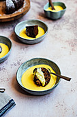 Chai Spiced Date Cake with Vanilla Custard
