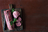Various pieces of game meat