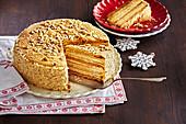 Old Bohemian honey cake