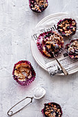 Muffins with summer berries