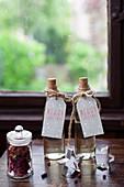 Homemade rosemary syrup