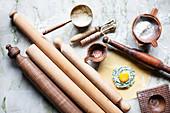 Küchenutensilien zur Herstellung von Ravioli