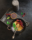 Dry roasted indian spices