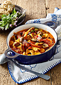 Mushroom and beans goulash with chili
