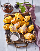 Carrot croissants with damson cheese