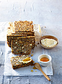 Bread with seed and nut mix