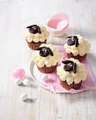 Easter chocolate cupcakes - lamb shaped