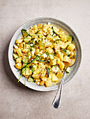 Potato salad with cucumber and egg (sugar-free)
