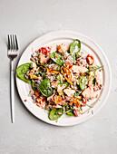 Linsen-Avocado-Salat mit Lachs (zuckerfrei)