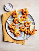 Grilled prawn skewers (sugar-free)