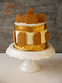 Christmas cake with speculoos