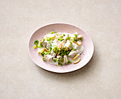 Chicken salad with pear and yoghurt dressing