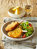 Cotoletta alla milanese (Veal cutlet Mailand style)