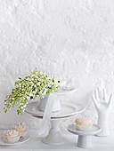 Wedding buffet in white