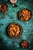 Chicken Biryani with Tomato Sambal and Raita Yoghurt