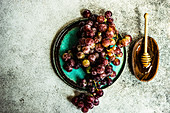 Raw and ripe grape