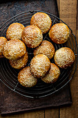 Rolls with sesame seeds