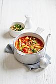 Vegan spring minestrone with gremolata