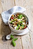 Mediterranean Vegetable Farfalle Pasta Salad