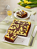 Russian pluck cake with egg liqueur for Easter