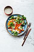 Oven squash salad with tahini dressing