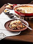A dinner plate of shepherds pie
