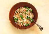 Matar rice (rice with peas, India)