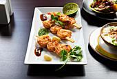Prawn Tikka (Indian appetiser)