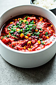Simple Chilli sin Carne with chocolate