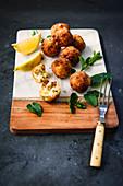 Zucchini Feta Balls