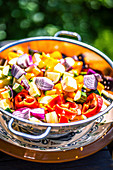 Mediterranean vegetables prepared for the barbecue