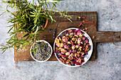 Edible dried petals - lavender, rose petals, rosemary