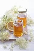 Elderberry and lemon flower syrup