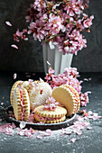 Alfajores, delicious traditional Argentine sandwich cookies filled with cream