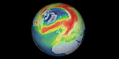 Arctic ozone hole, March 2020