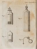 Francis Hauksbee's experiment on light and mercury