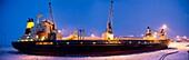 Icebreaker ship in the Arctic Circle