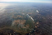Air pollution, aerial image