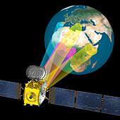 Eutelsat Quantum satellite in orbit, illustration
