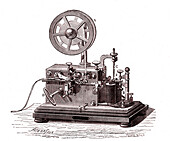 Morse telegraph receiver, 19th century