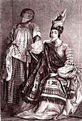 Metis female merchant in Senegal, 19th century illustration