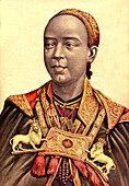 Empress Taytu Betul of Ethiopia, illustration