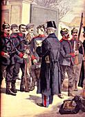 Alsatian deserters, 19th century illustration